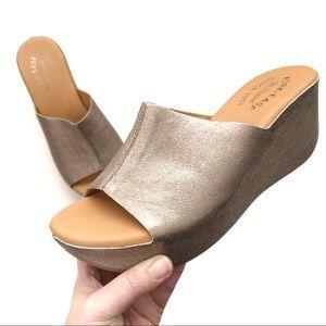 Kork-ease | Metallic Wedge Sandals